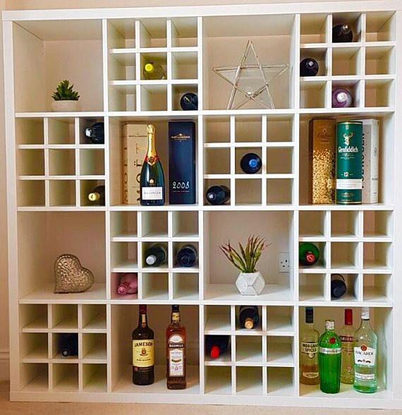 Wine Rack Insert For Ikea Kallax Expedit Storage Unit Bottle Avec Images Kallax Ikea Kallax Kallax Ikea Hack