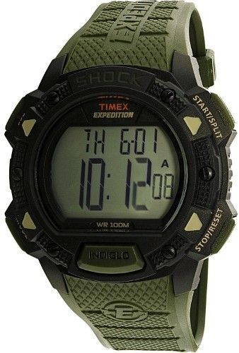 ca4941245f1 Timex Men s TW4B09300 Green Polyurethane Quartz Sport Watch