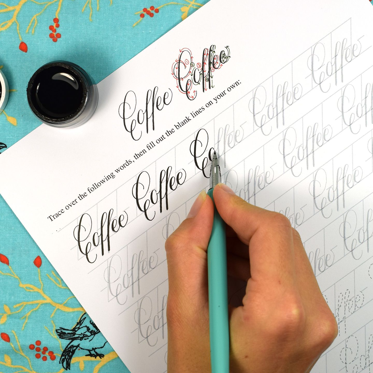 The New Janet Style Calligraphy Worksheet Set Has Arrived