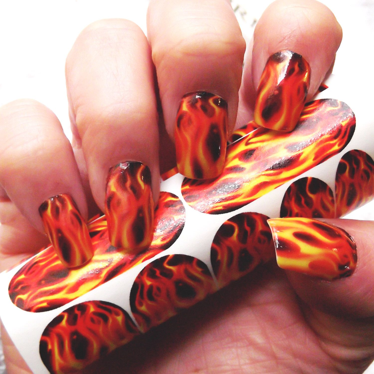 REAL FLAME Nail Art (FMR) For Long Nails Hunger Games