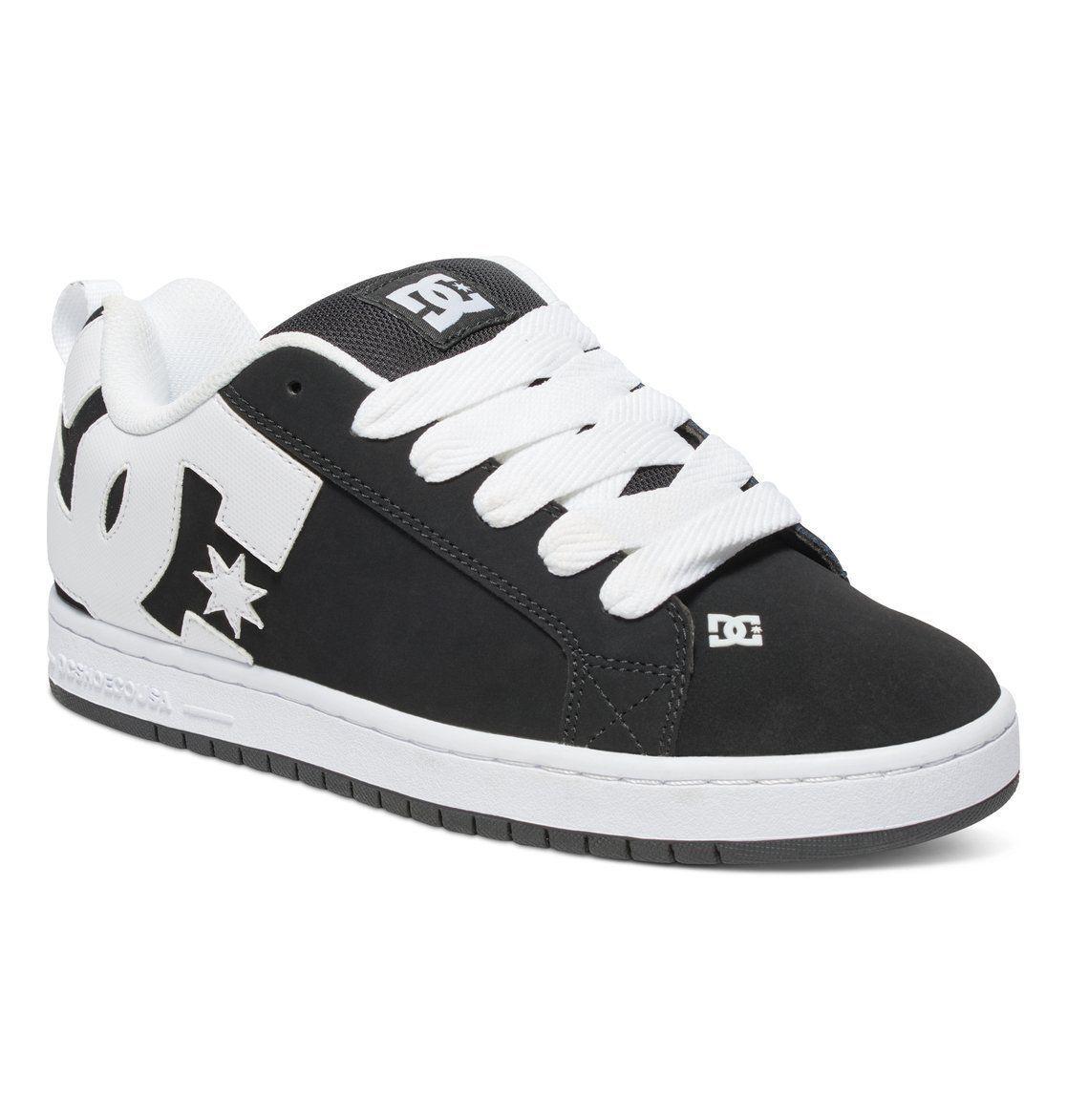 Skate shoes size 9 - Dc Shoes Skate Court Graffik Black White 300529 Xkw Mens Uk Sizes 9 13