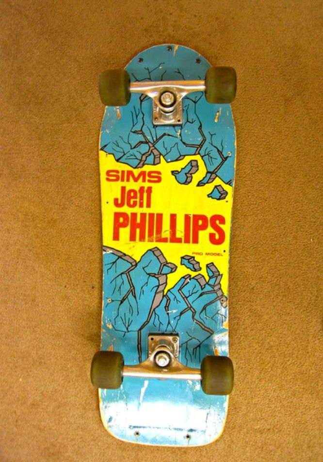 Sims Jeff Phillips Breakout Skateboard Nice Colorway And Great Condition For An Og Rider Classic Skateboard Skateboard Pictures Old School Skateboards