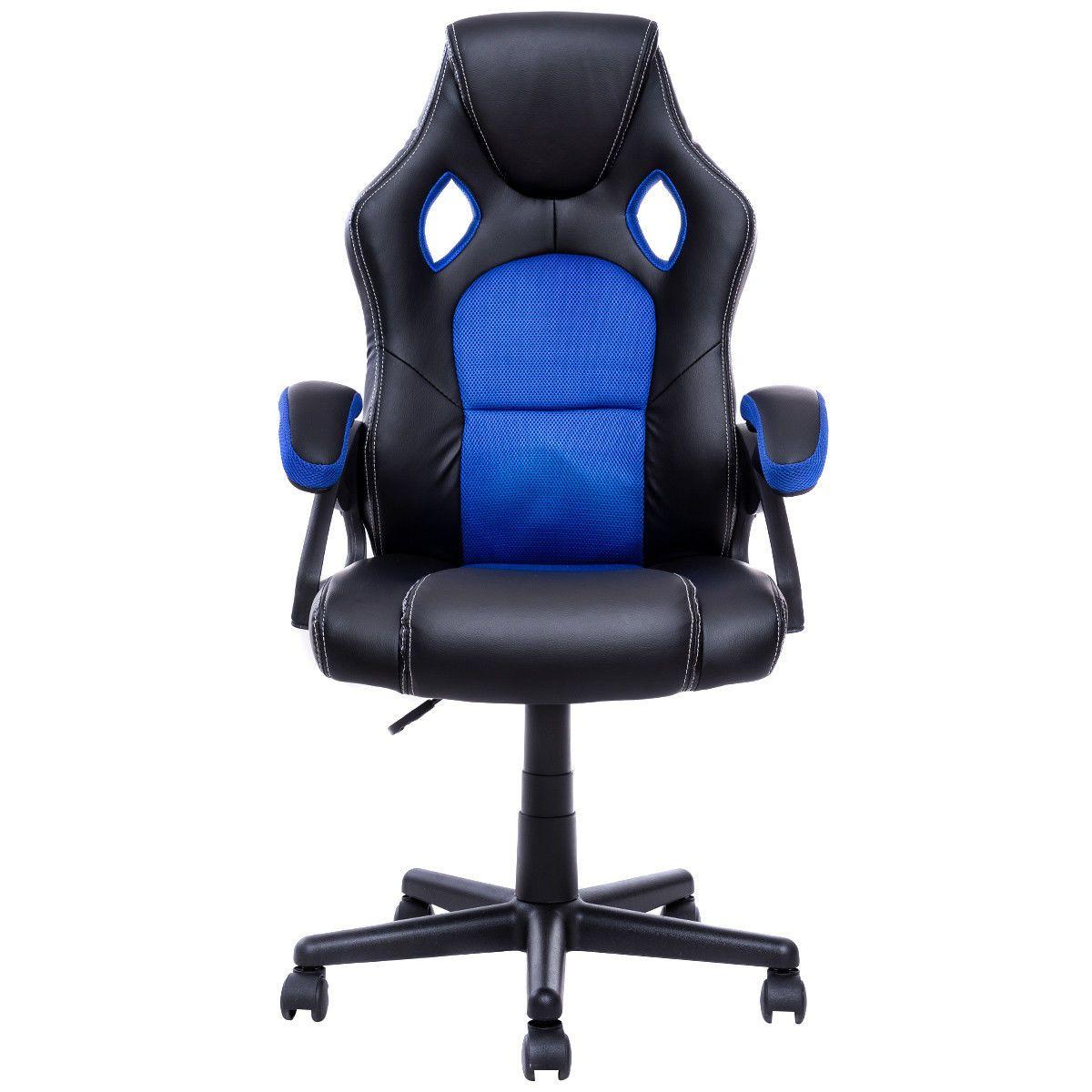 Silla de oficina de cuero estilo PU con asiento tipo butaca Executive Racing