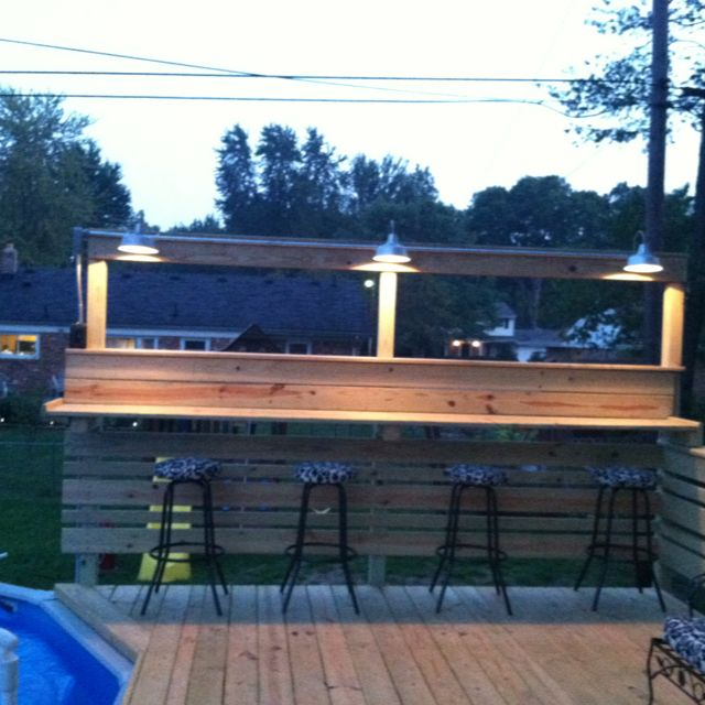 My Pool Deck With Bar Let The Party S Begin Backyard Pool