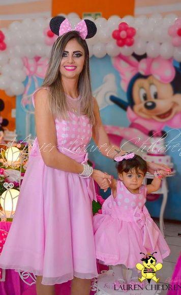 Vestido Mae E Filha Minnie Com Imagens Vestido Mae E Filha