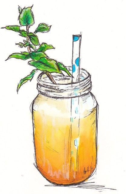 Drink Juice With Images Watercolor Food Food Illustrations