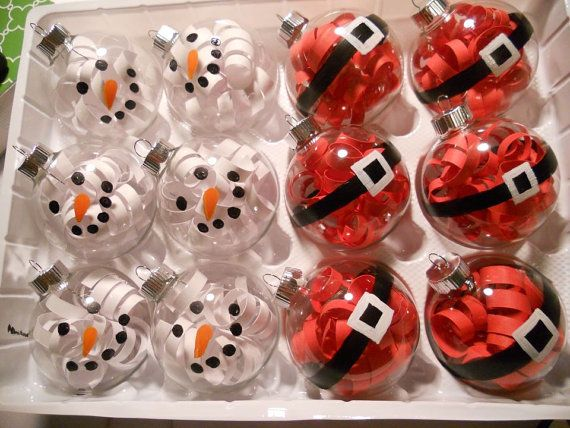 Christmas ornament by aubriea on etsy these would for Christmas ball craft ideas