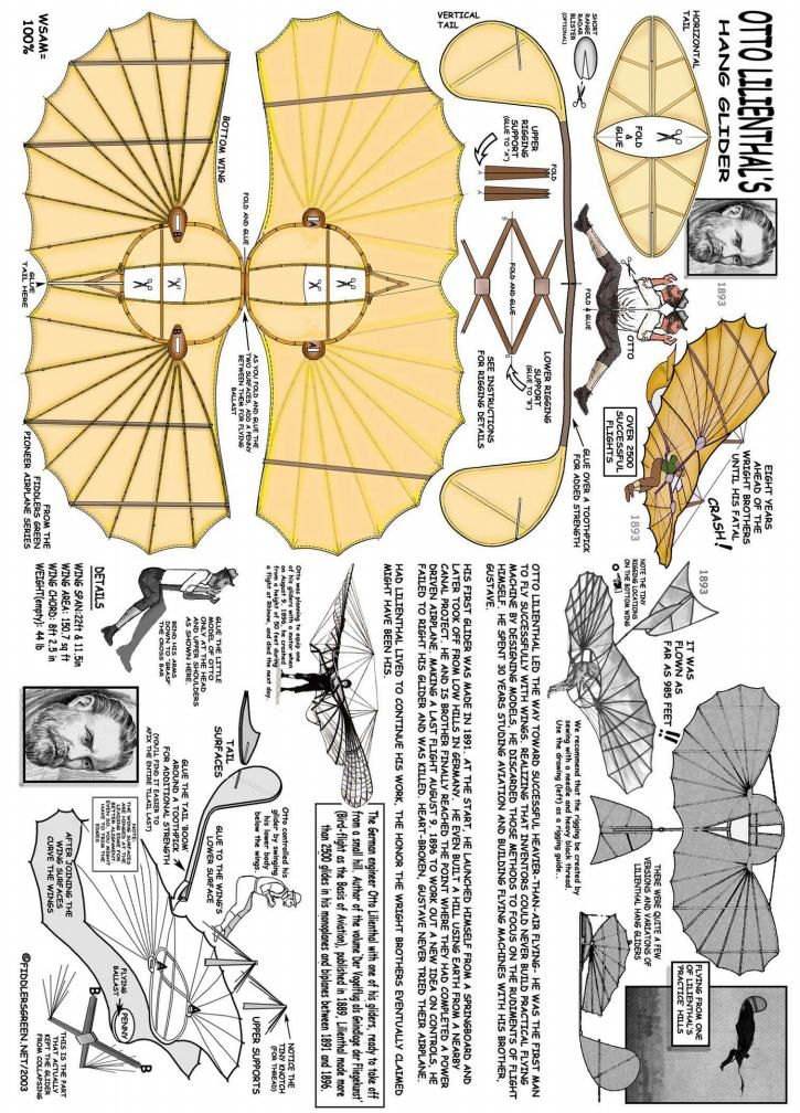 Otto Lilienthal Hang Glider