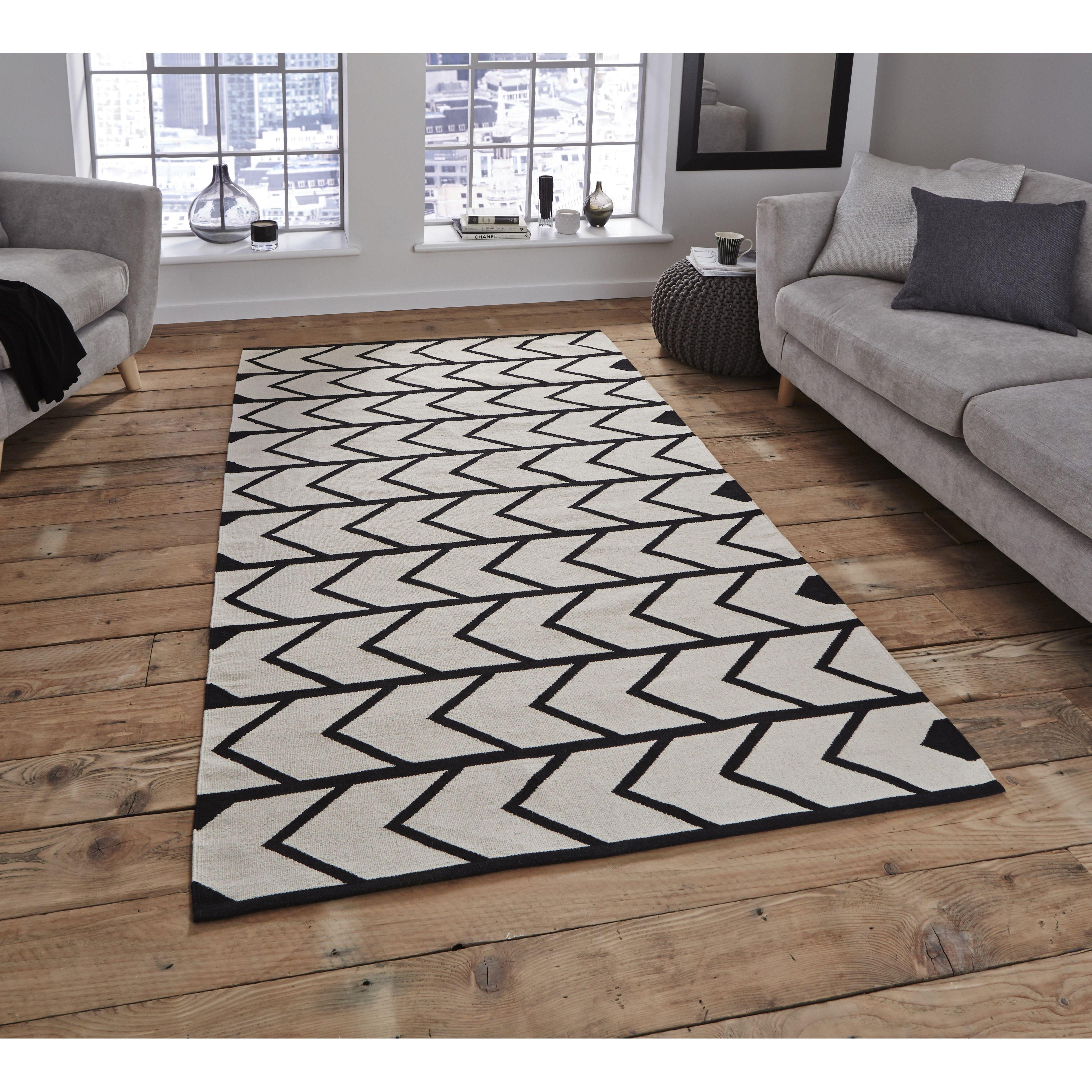 Teppich Manhattan In Schwarz Weiss Von Think Rugs Online Kaufen Bei