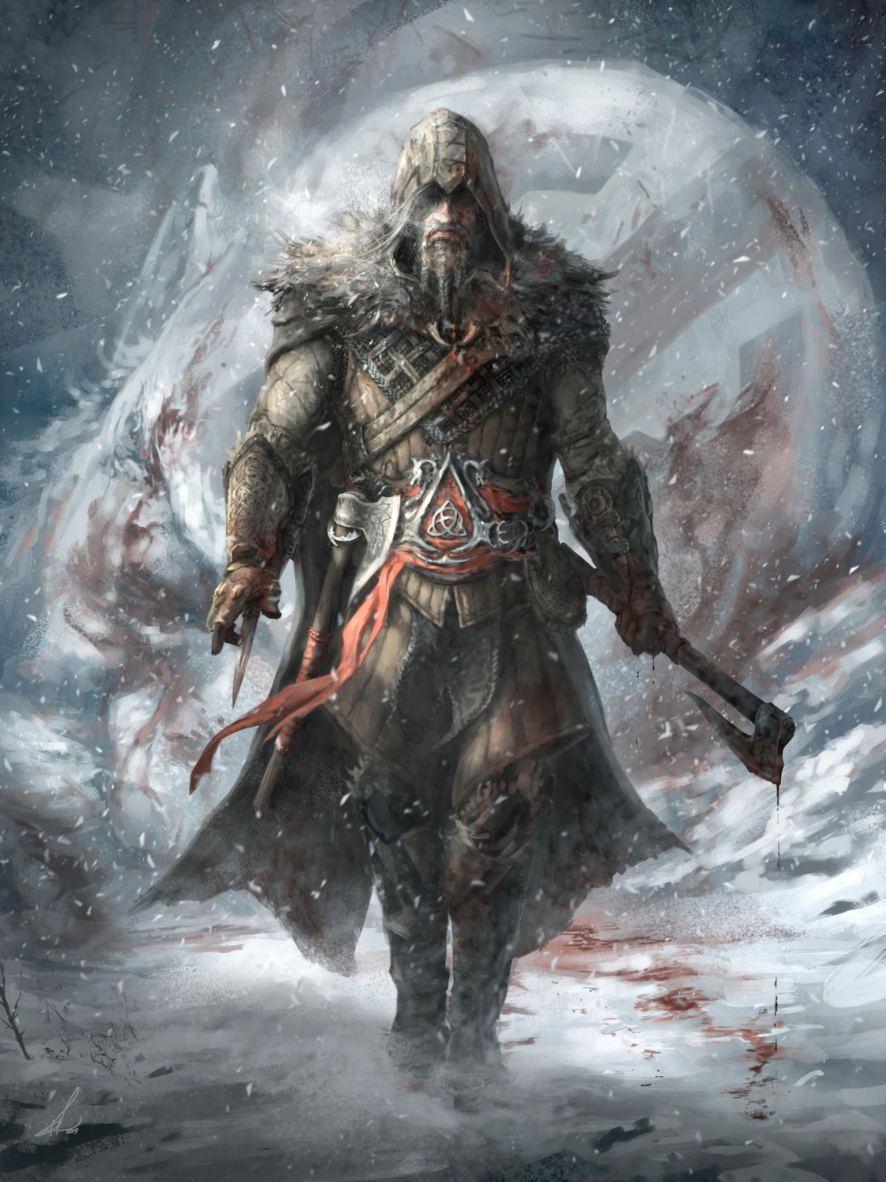 Assassin S Creed Viking Character Design By Petros Stefanidis On