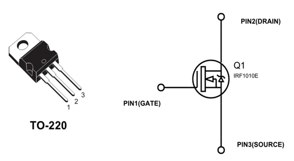 Irf1010e Pinout Electronics Circuit Transistors Arduino