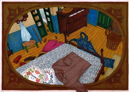 Rosa Maria Unda Souki, A tu regreso o Despierta corazon dormido, 2015, Grease pencil and marker pen on paper, 29,7 x 42 cm, Courtesy Galerie Dukan | Galerie Dukan