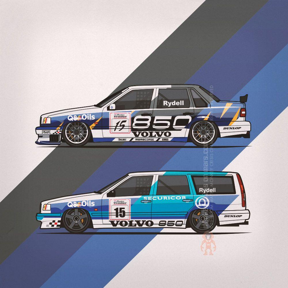 Volvo 850 Tom Walkinshaw Racing Super Touring Cars 1994 1995 By