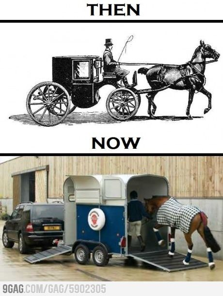 Horses Used To Pull Us Now We Pull Them What Happened Funny