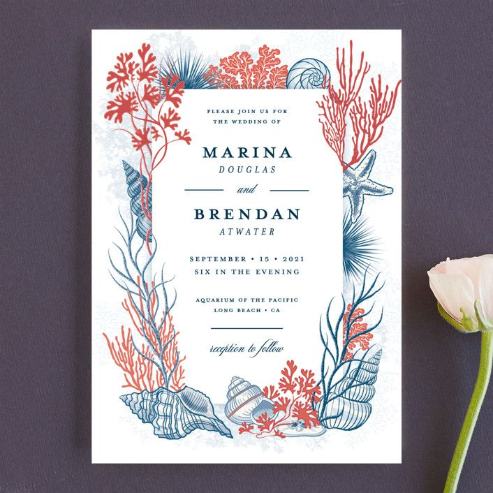 """deep blue""  wedding invitations in deep bluepaper"