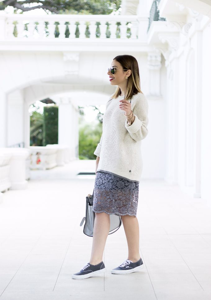 b55810041a Classic Vans and a pencil skirt for a casual chic Fall look! #outfit  #vansfall14 #ootd