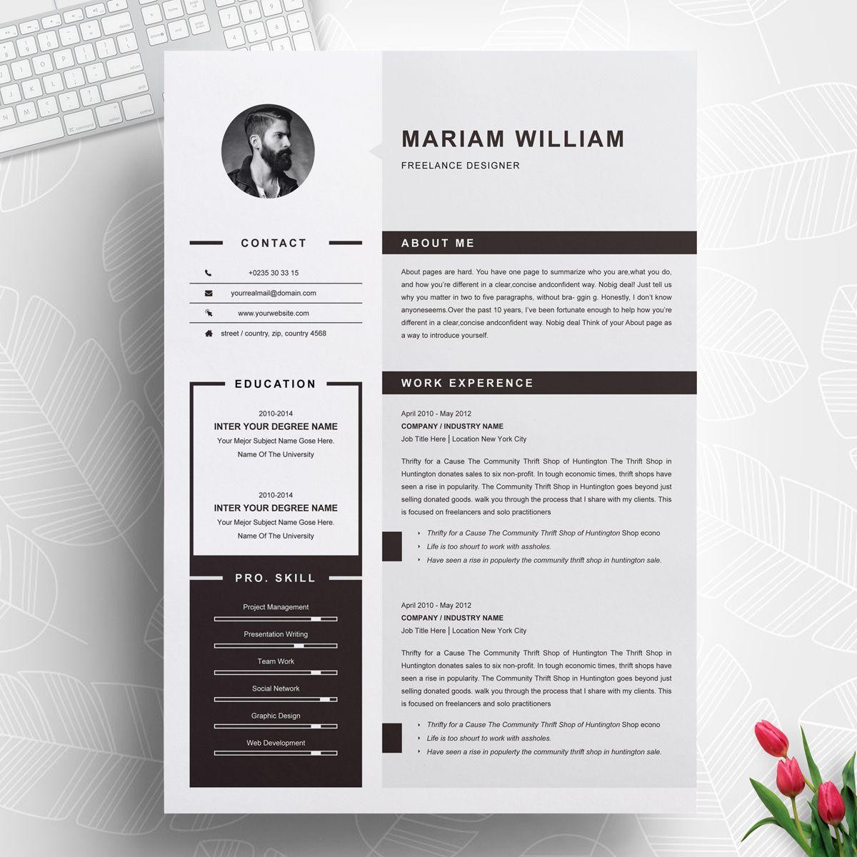Freelancer Resume Template 71465 Cv Design Template Cv Design