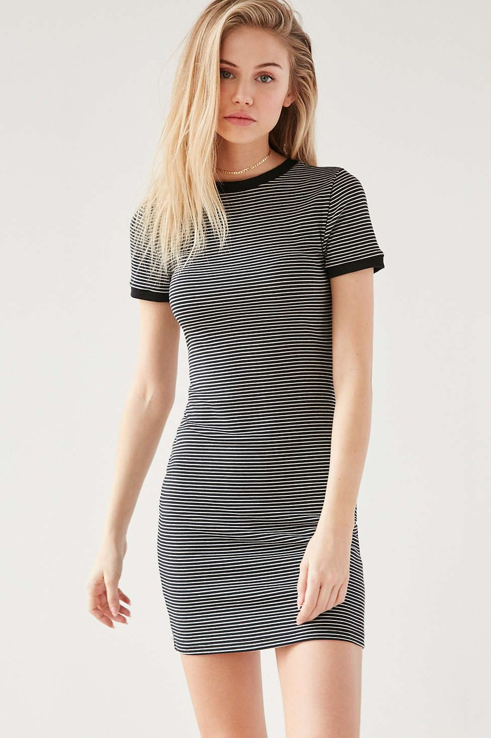 4f165efc54ac BDG Striped Bodycon T-Shirt Dress