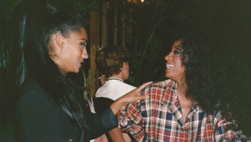 Tracee ellis ross and her mother diana...