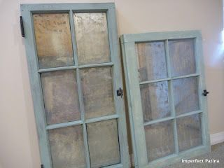 Imperfect Patina Antique Windows Faux Mercury Glass Mercury Glass Diy Glass Windows Diy Painting On Glass Windows