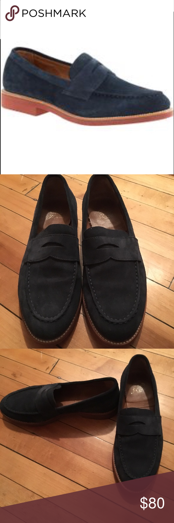 1a69a01f0e7 J Crew Kenton Suede Penny Loafers Slightly used but in good condition  loafers Classic penny loafers