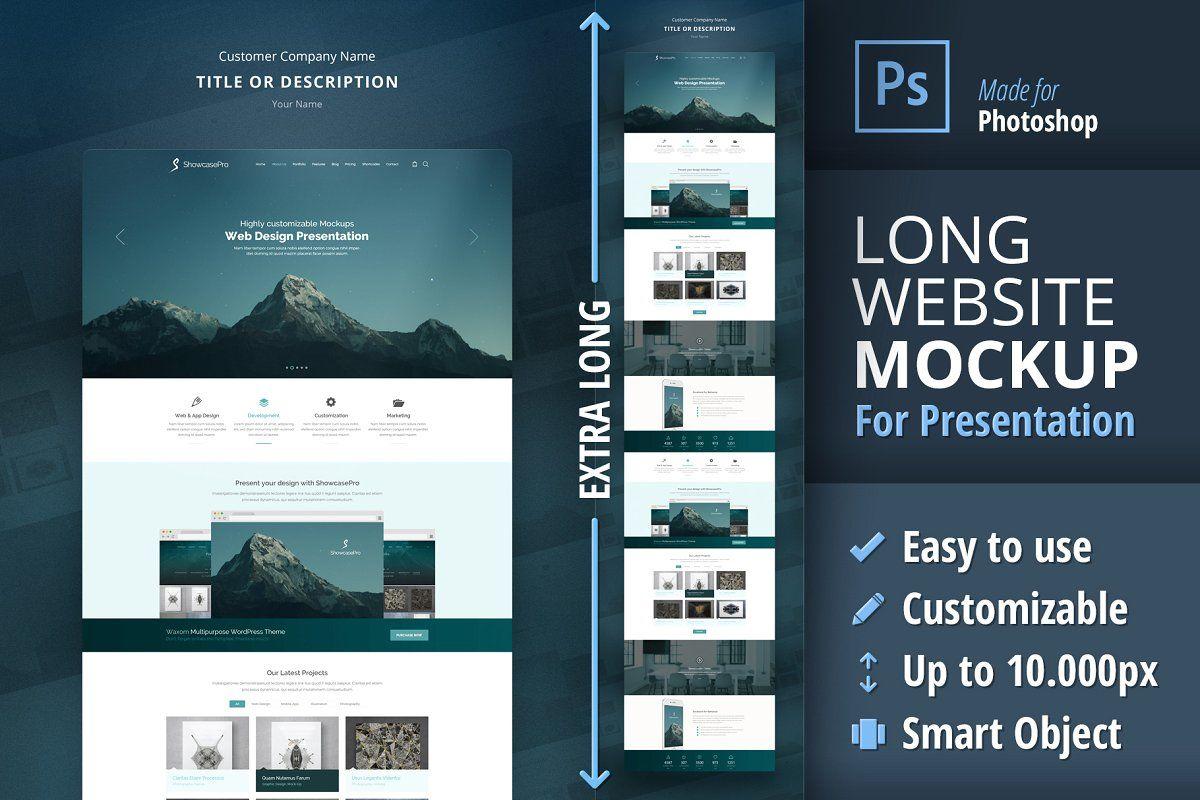Long Website Mockup For Presentation In 2020 Website Mockup Web Design Presentation Design