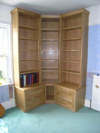 Corner Bookcase Plans Photos
