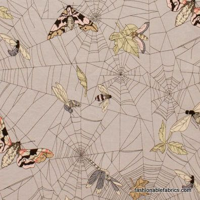 Fabric... A Ghastlie Web in Mist Lt. Grey by Alexander Henry Fabrics (for the roman blinds)