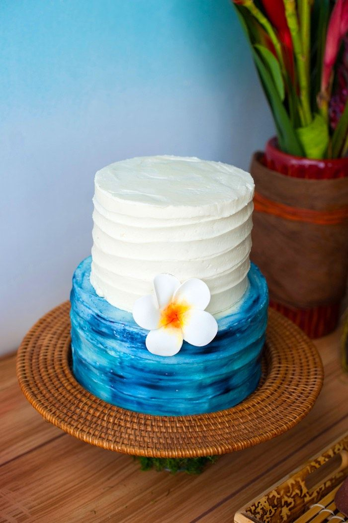 Cake from a Moana Inspired Birthday Party on Karas Party Ideas