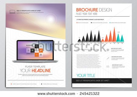 Brochure Design Template Geometric shapes, Abstract Modern - geometric flyer template