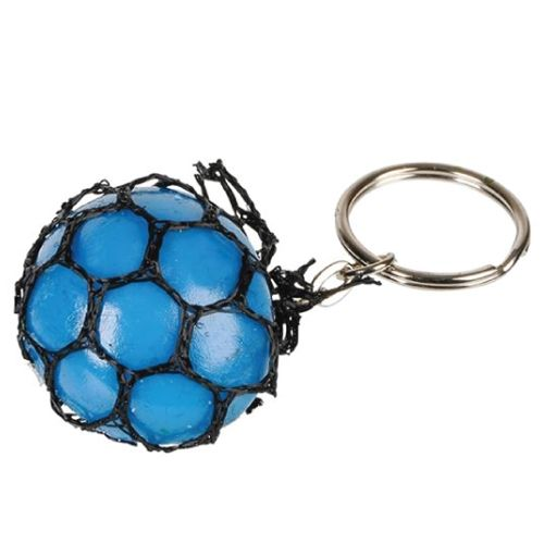 Diy Squishy Keychain : Mini Mesh Squishy Ball Keychain, TOO COOL!!! Have a stress ball/fidget toy wherever you go ...