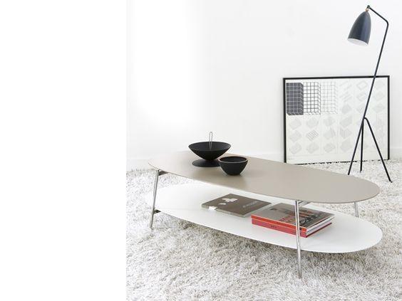Table Basse Shika Beige Et Blanche Pour La Maison D Edition