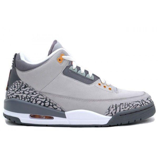 Nike Air Jordan Cement 3 III Retro Mens Shoes White Grey