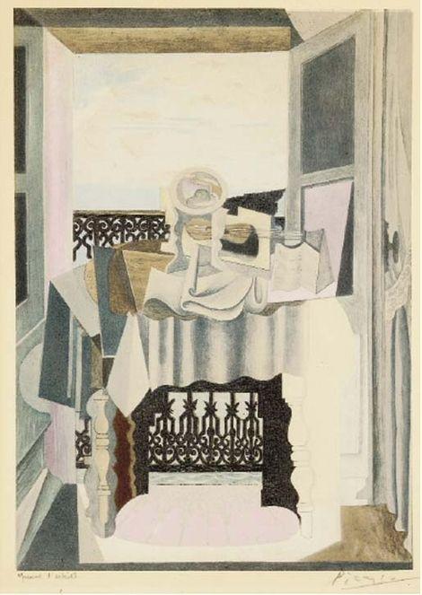 Pablo Picasso, 1920 La table devant la fenêtre