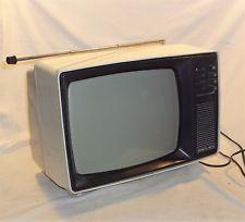 Vintage 1980 Junost 402 W 13 Russian Tv Portable 230v 12v