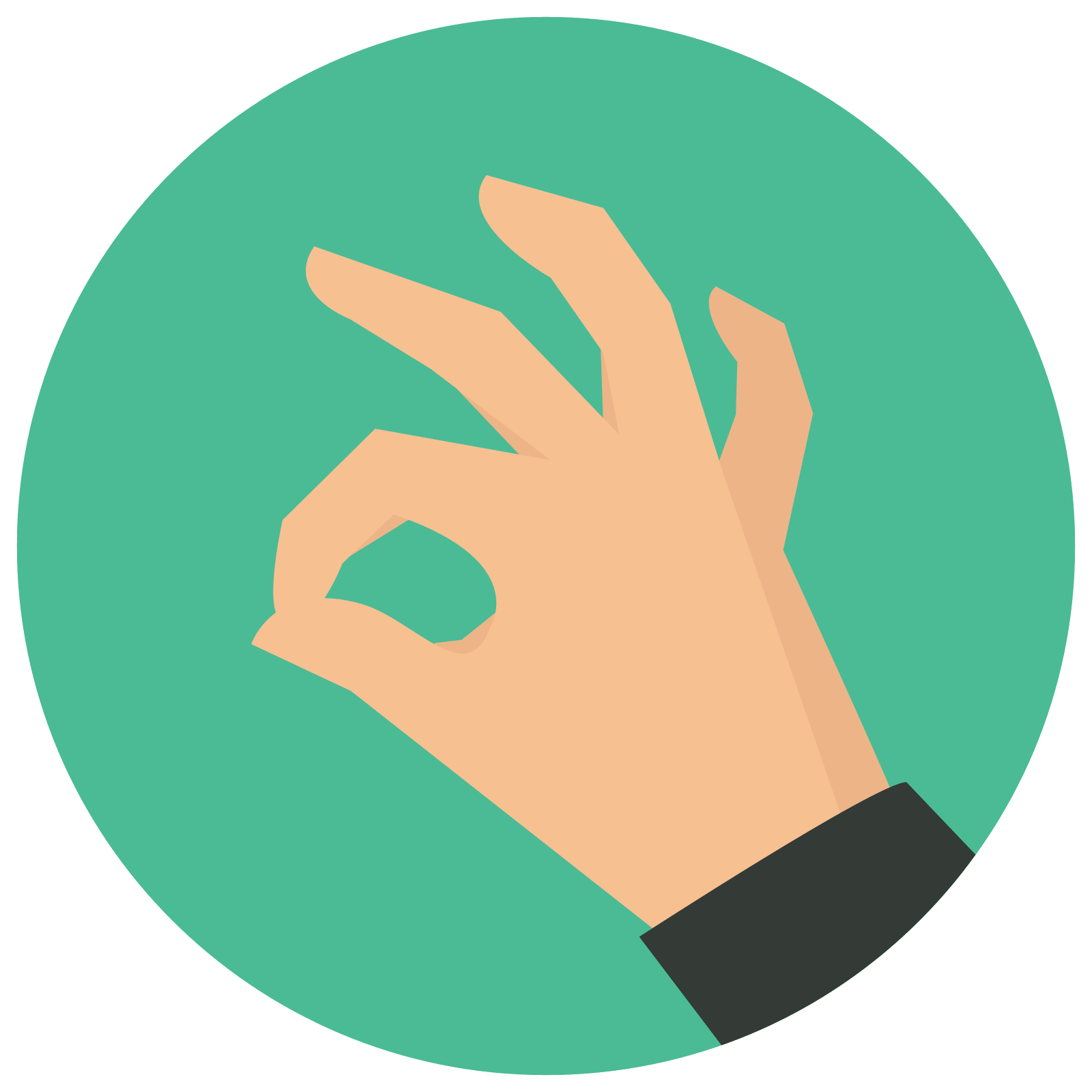 Ok Hand Icon This Is A Picture Of A Right Hand Giving The Okay Symbol With It S Thumb And Index Finger The Other Three Finge Hands Icon Icon Graphic Design