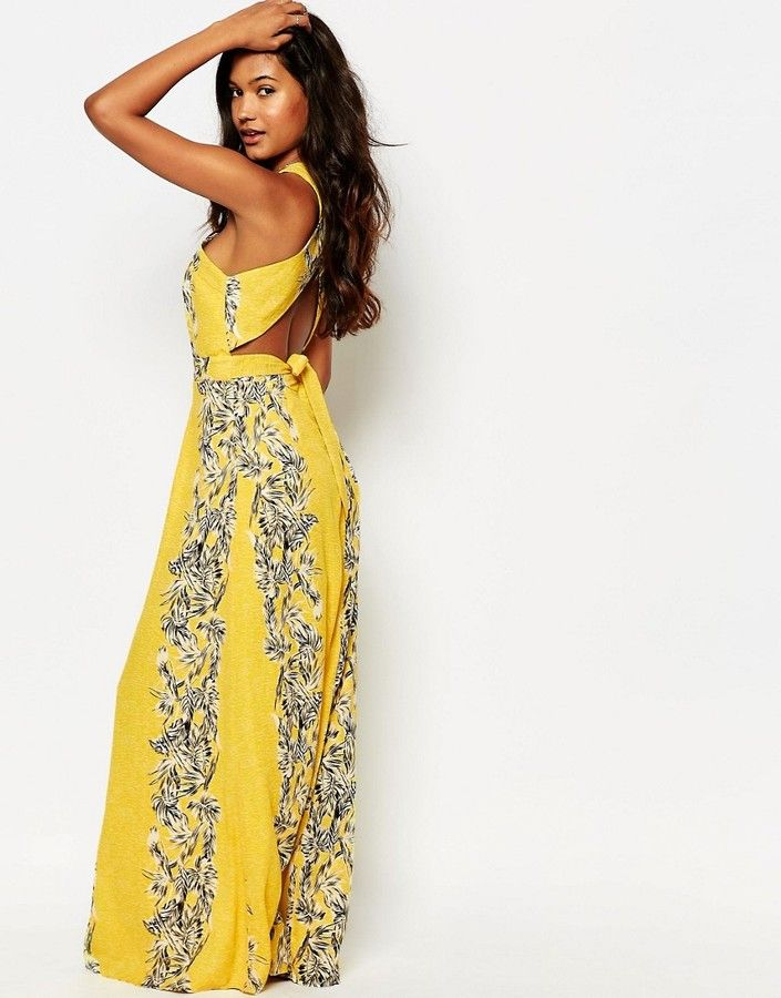 Leith sheer overlay maxi dress