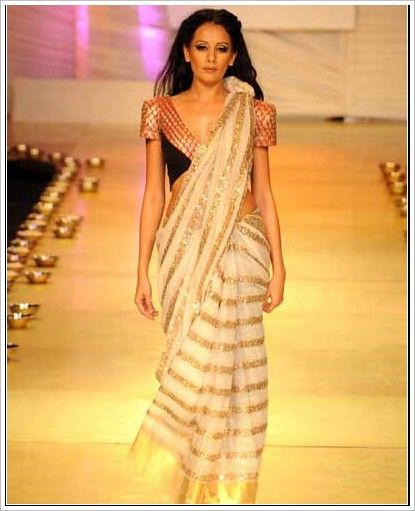 8c764c0eb2 Anamika khanna saree at lakem fashion week sari blouse indian outfit shaadi  bridal style desi designer