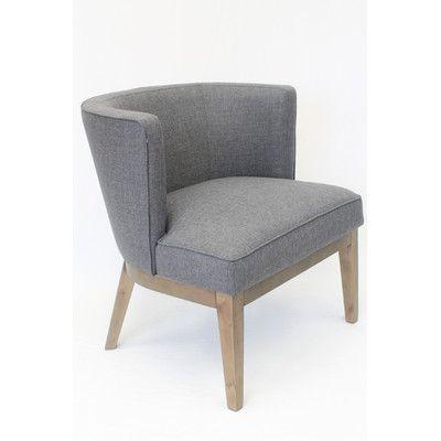 Best Laurel Foundry Modern Farmhouse Barnard Barrel Chair 400 x 300
