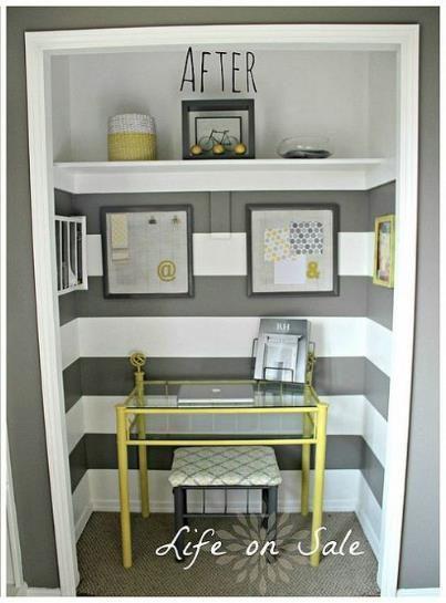 Creating An Office In A Closet Closet Turned Office Closet