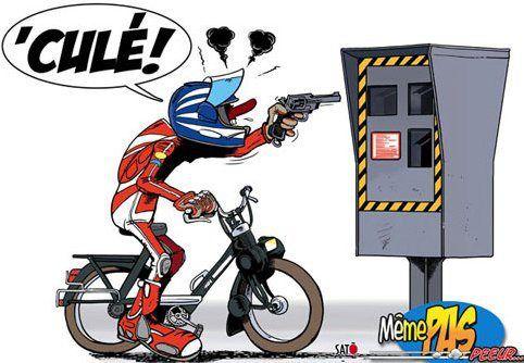 Solex dessin radar joe bar team - Dessin humour moto ...