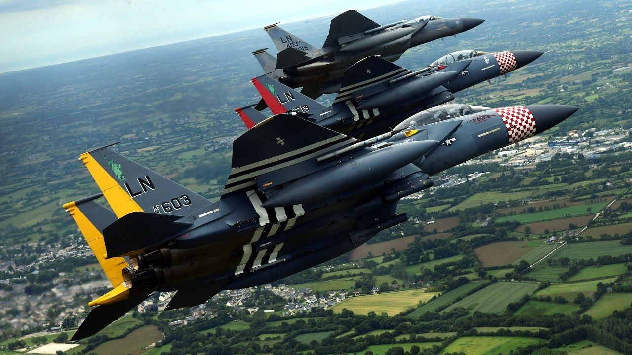 U.S. Air Force F15E Strike Eagles assigned to the 48th