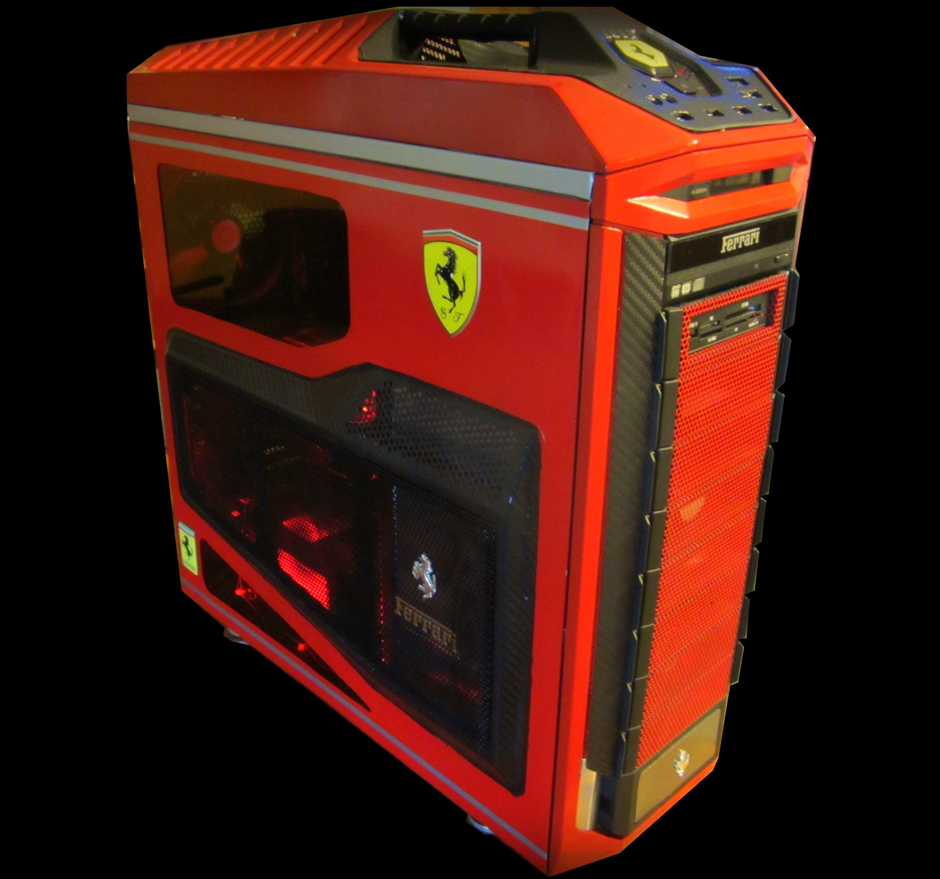 The Ferrari 599 Gto Tribute Build By Enigma And Unknown Ferrari 599 Gaming Pc Build Hot Rodder
