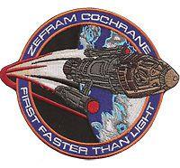 StarTrek STAR TREK Zefram Cochrane Rocket first faster than light Aufnäher Patch