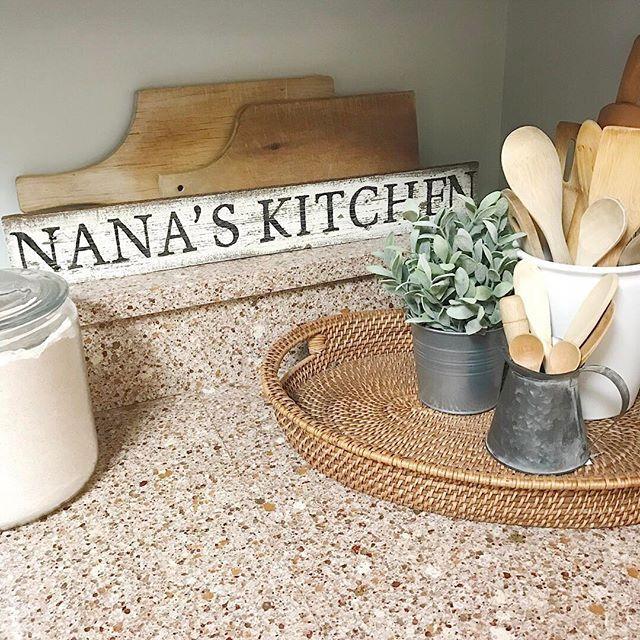 Nana\'s kitchen pallet wood sign, chalk paint sign, fixer upper ...
