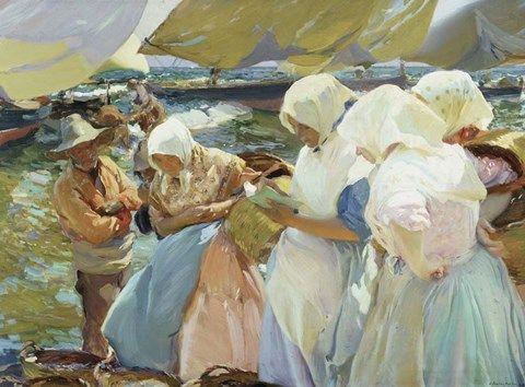 Valencianas En La Playa Women From Valencia On The Beach 1915 By Joaquin Sorolla Y Bastida Canvas Art Prints Joaquin Sorolla Art