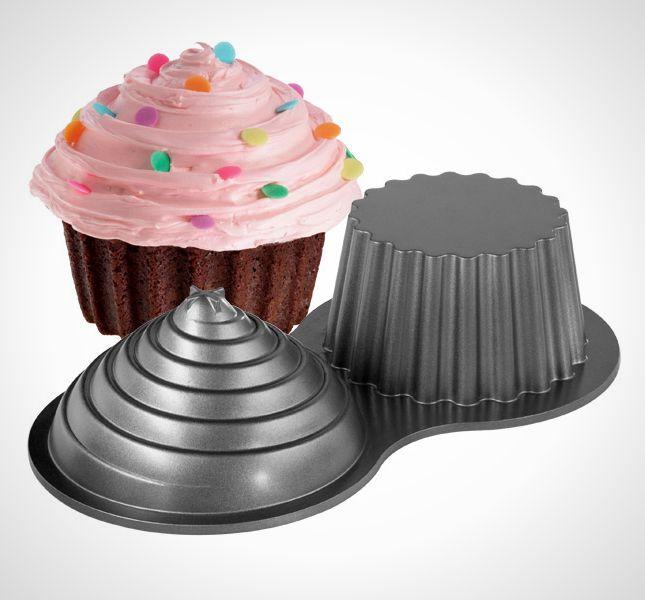 20 Pans That Take The Cake Large Cupcake Pan Large Cupcake Giant Cupcake Cakes