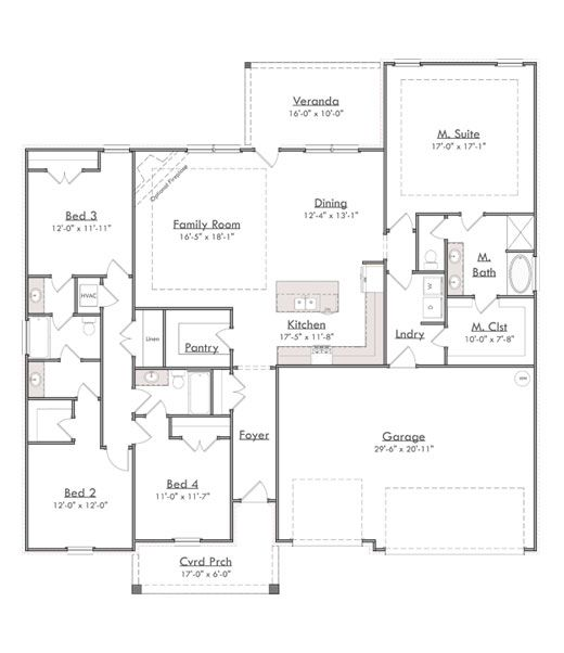 2338 Breland Homes Ranch House Plans Floor Plans New Home Construction