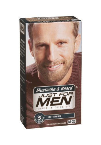 Just for Men Brush-In Color Gel, Mustache and Beard, Light Brown M ...