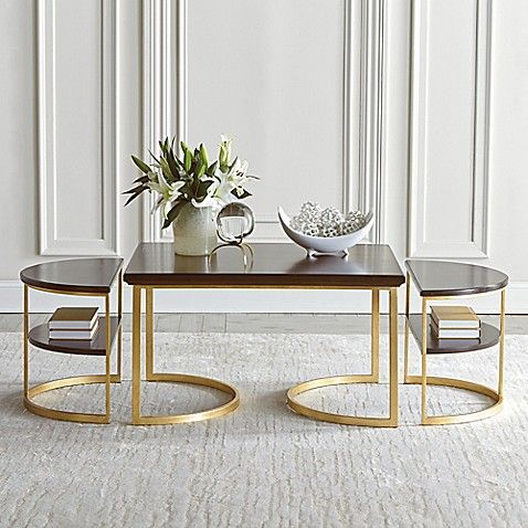 306975f3806e Coco Nesting Round Glass Coffee Tables in 2019